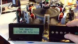 Moteur magnétique avec affichage de la freq + trm avec arduino uno