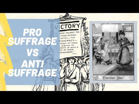 Pro Suffrage Vs. Anti Suffrage Propaganda