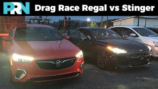 1/4 Mile Drag Race | Buick Regal GS vs Kia Stinger GT