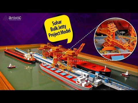 Bulk Jetty at Port of Sohar Scale Model - Oman