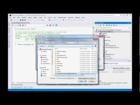 Visual Studio 2012 SQL Server Data Tools Demo