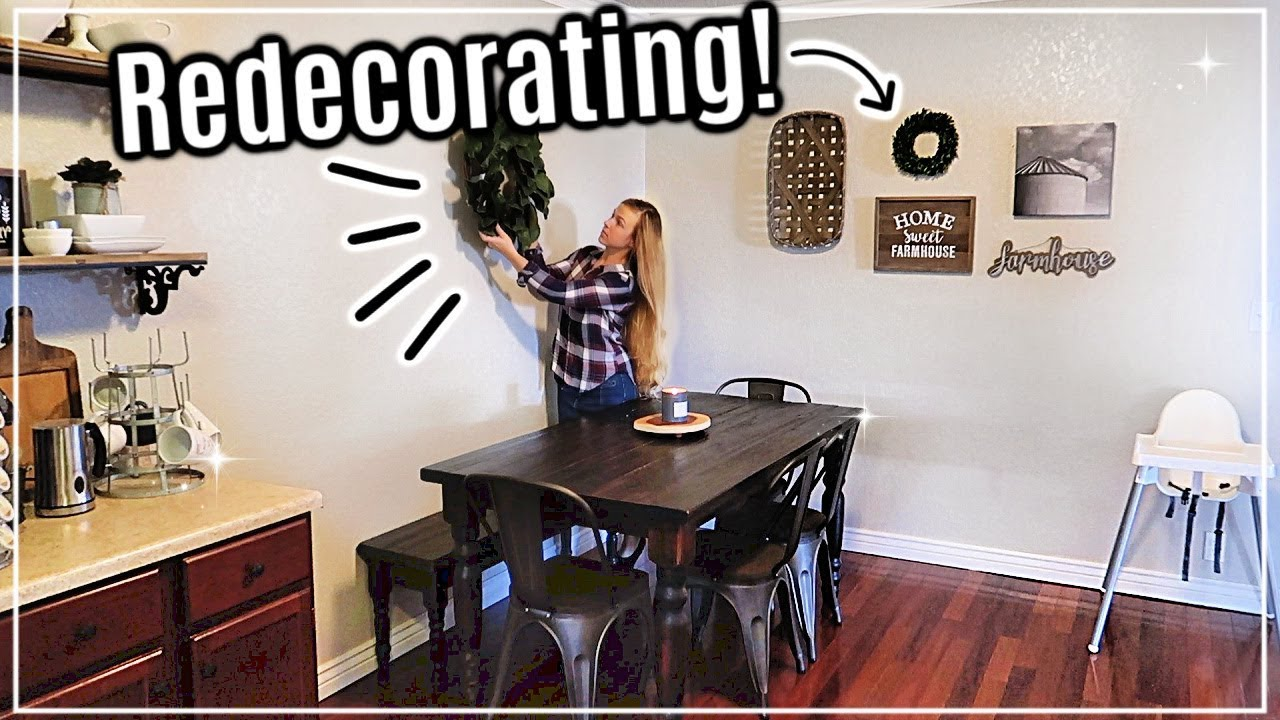 REDECORATING MY HOUSE AND REARRANGING FURNITURE | FARMHOUSE STYLE DECOR
