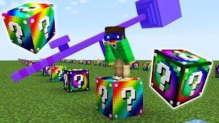 Rainbow & Spiral Lucky Block Race!!   Minecraft Lucky Block