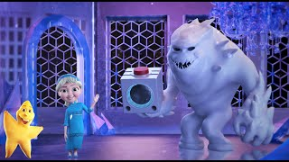 Happy Snow Monster Teaches Young Alisa the Alphabet | Learn the English ABC