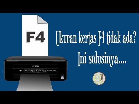 TUTORIAL MEMBUAT UKURAN KERTAS F4 DI PRINTER EPSON L3110.