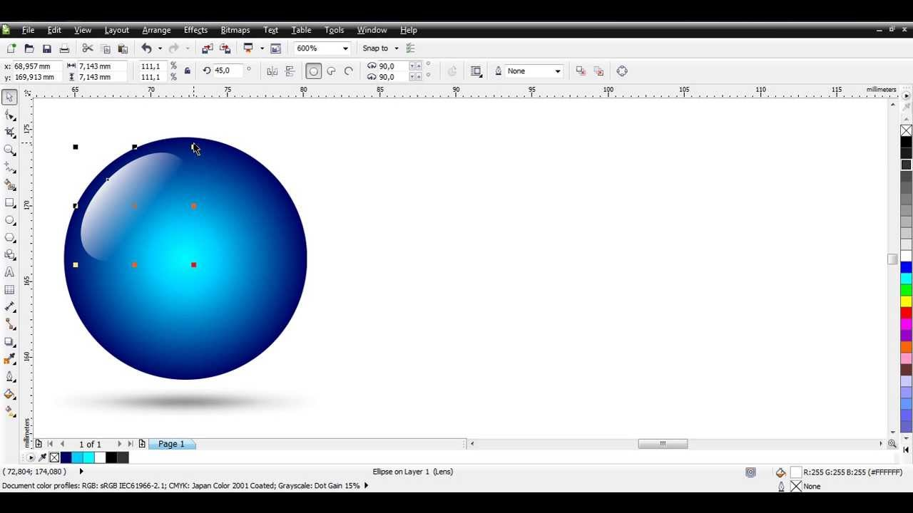 how to make 3d ball with corel draw youtube. Black Bedroom Furniture Sets. Home Design Ideas