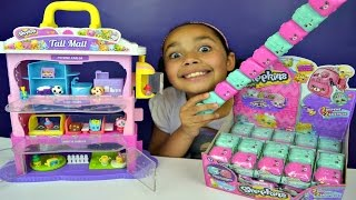 NEW Shopkins Season 5 Tall Mall - Mystery Surprise Petkins Full Box | Kids Toy Review