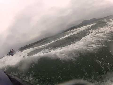 Ride out in rough seas. SeaDoo