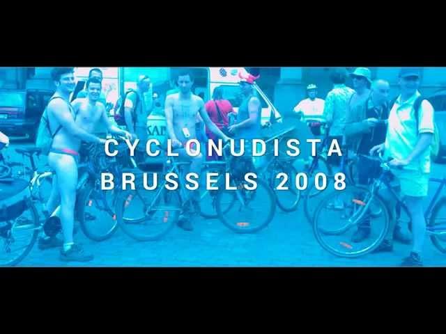 Cyclonudista Brussels 2008 - WNBR World Naked Bike Ride Bruxelles, Belgium, Europe