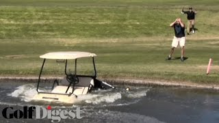 Parks & Rec's Jim O'Heir Goes Ballistic After iPad, Clubs Are Destroyed - Golf Digest's Shanked!