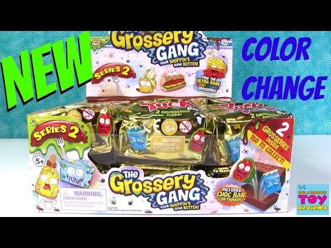 Grossery Gang Series 2 NEW Yuck Bar Color Change 2 Pack Opening | PSToyReviews
