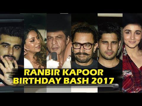 Ranbir Kapoor के Birthday पार्टी में पहुचे Bollywood के सितारे - Shahrukh से लेकर Aamir तक