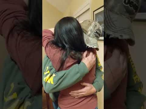 Maverick - Mom On the Phone is Surprised by Marine Son's Homecoming