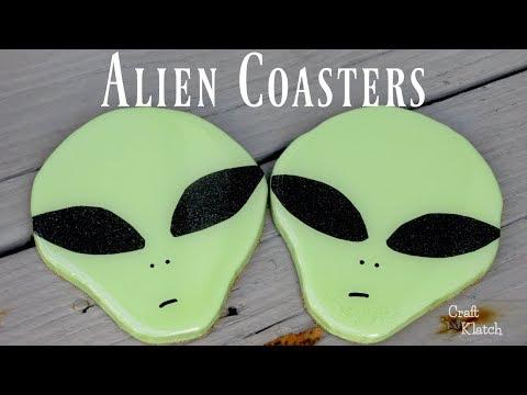 DIY Alien Drink Coasters | Craft Ideas | Another Coaster Friday | Craft Klatch