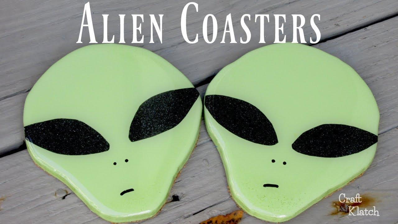 Diy Alien Drink Coasters Craft Ideas Another Coaster Friday Craft Klatch