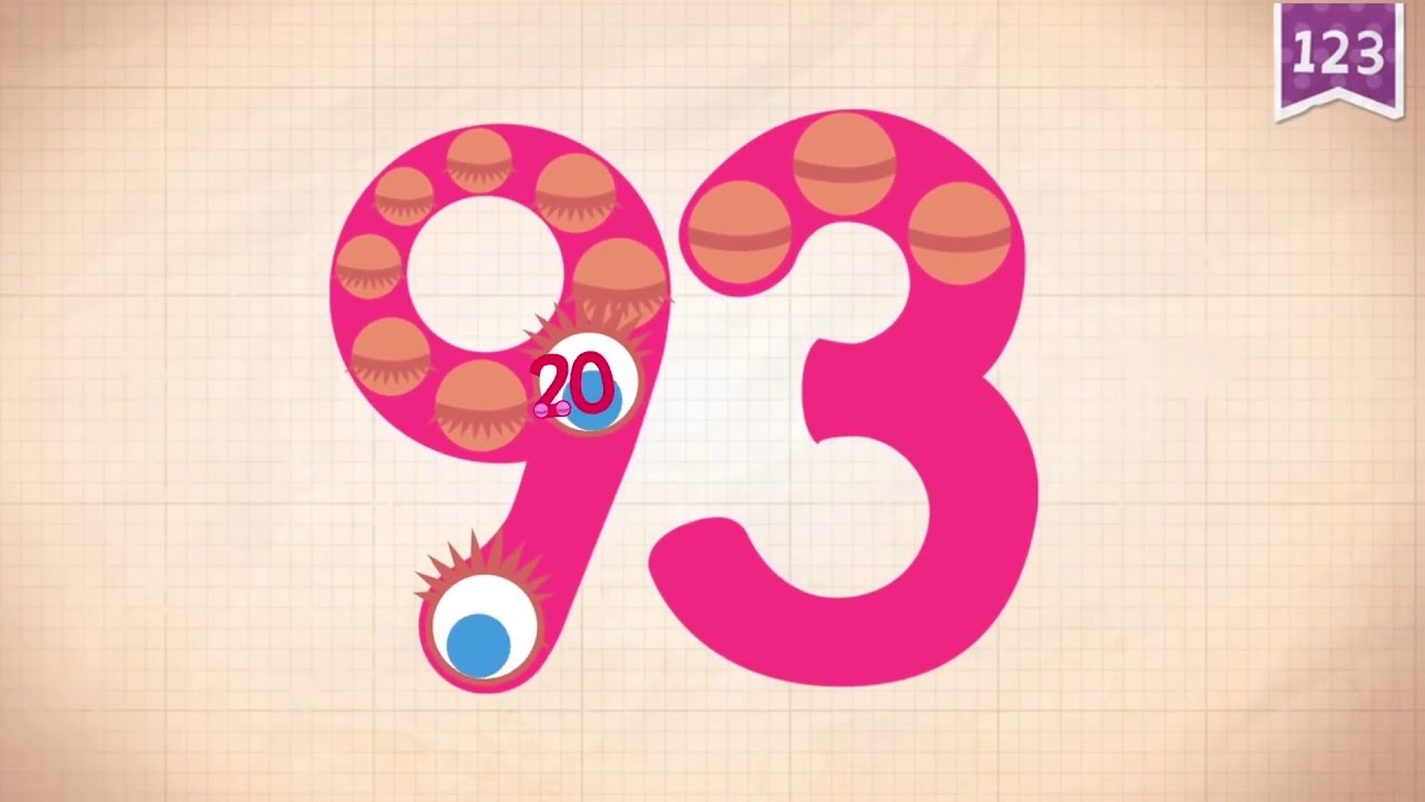 Learn Number 93 in English & Counting, Math by Endless Numbers Kids Video -  YouTube