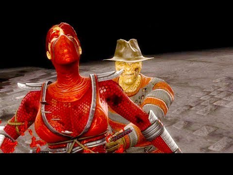 Mortal Kombat 9 - All Fatalities & X-Rays on Skarlet Bloody
