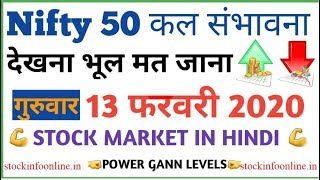 #Nifty  13 February 2020 | Option Analysis Nifty Price Analysis| Stock Market in hindi