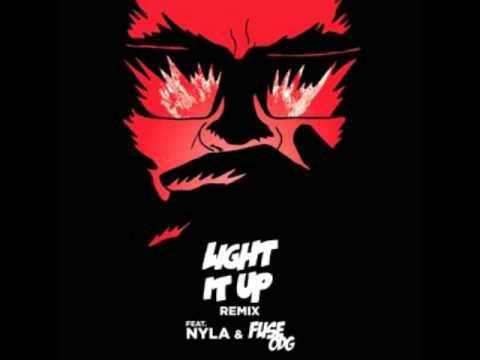 Major Lazer - Light It Up (feat. Nyla & Fuse ODG) [Remix] (Official Lyric Video)