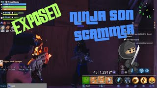 Ninjas Son Tried To Scam Me! (SCAMMER GETS SCAMMED) FORTNITE PVE *MUST WATCH*