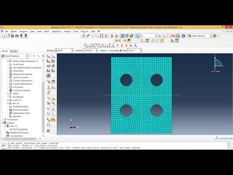 Abaqus Meshing Tutorials Meshing 3d Shell Plate With