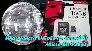 Descubrir MicroSD falsas por método de la Bola de Disco