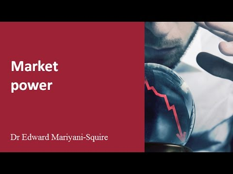 Market failure: market power