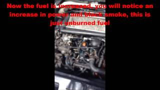 How To Increase Fuel On A Bosch Pump XUD9 306/205/Xsara/ZX