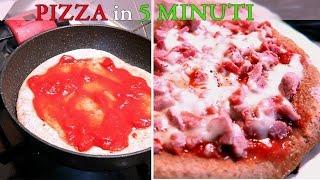 PIZZA VELOCISSIMA IN PADELLA IN 5 Minuti!!! | Carlitadolce