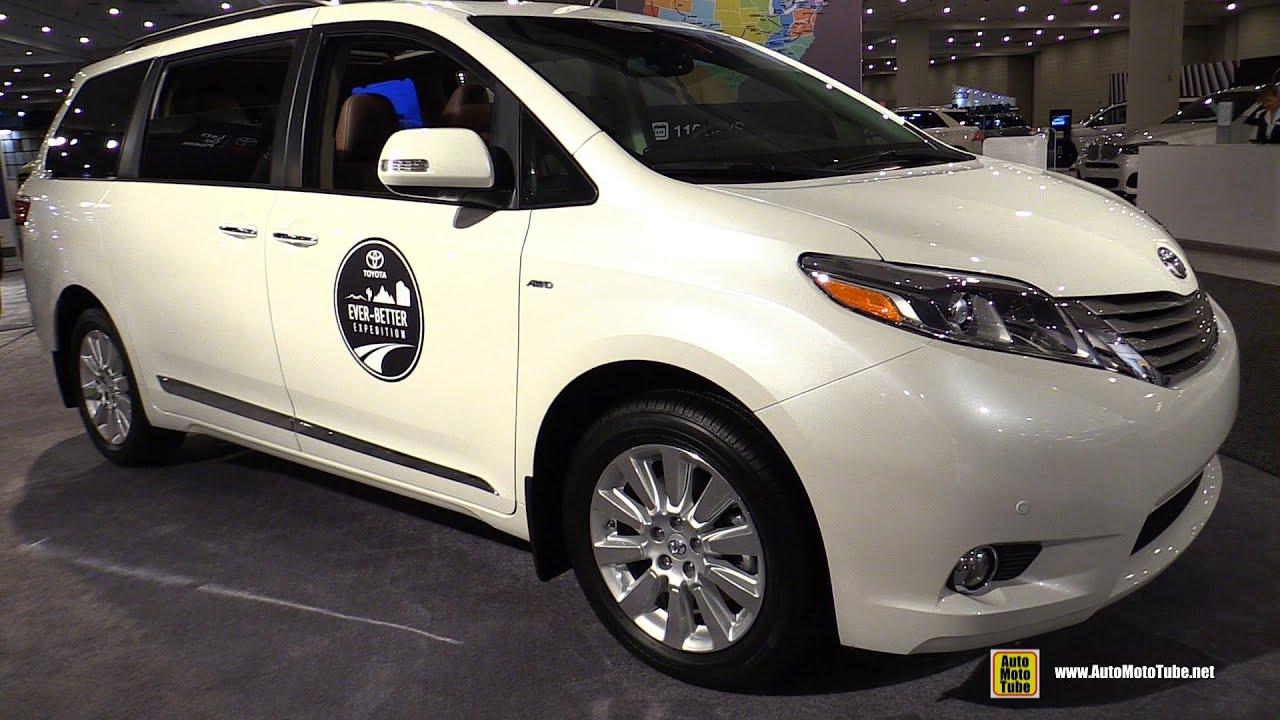 2016 Toyota Sienna Limited Awd Exterior And Interior Walkaround New York Auto Show