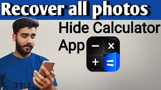 How to recover photos from Calculator hide app - Hidex | Calculator lock app screenshot 5
