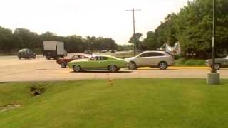Showing off and putting your Chevelle in a ditch at a car show!!