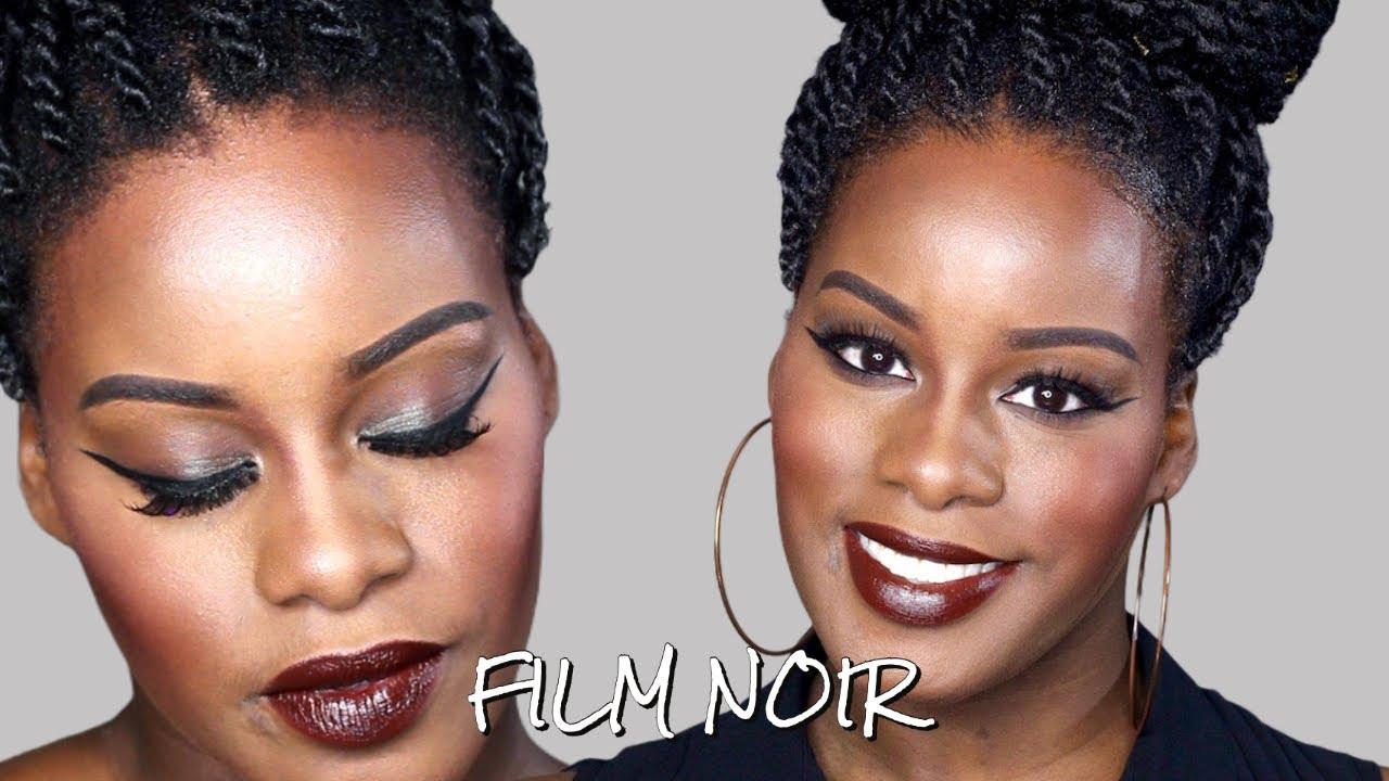 Bien connu Film Noir Makeup Tutorial | Dark Skin - YouTube YA55