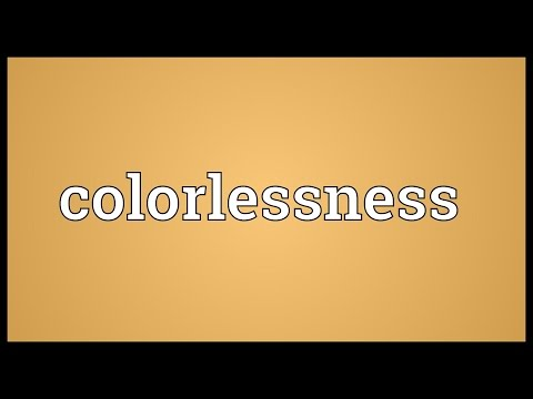 Header of colorlessness