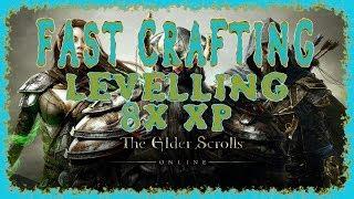 Elder Scrolls Online | X8 Crafting Xp | Fastest Way To Level Up Blacksmithing, Woodworking Etc | Hd