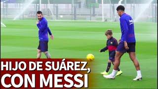El hijo de Luis Suárez peloteando con Messi | Diario AS