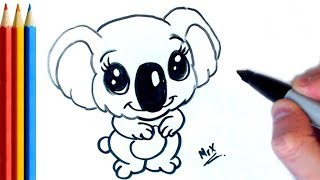 How to Draw Koala Bear (Easy) - Step by Step Tutorial