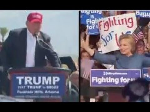 What would a Trump vs Clinton battle look like?