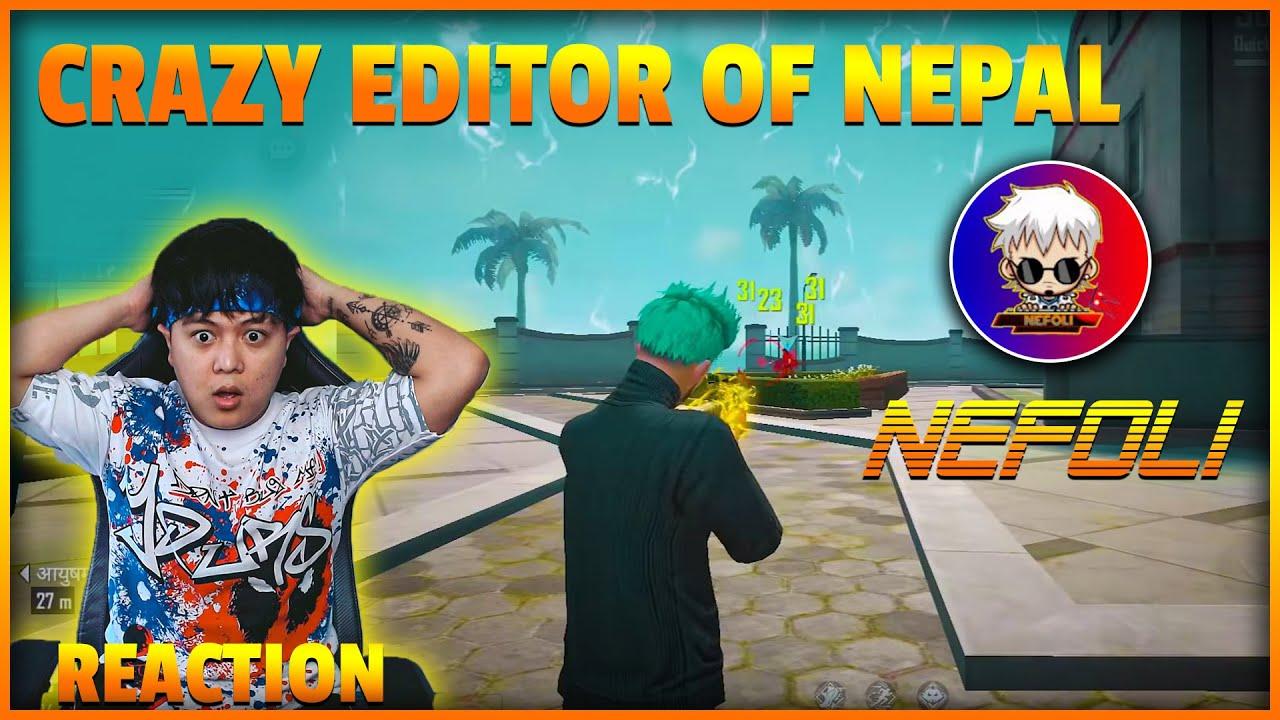 Junior Reacts To @NEFOLI Unique Style Editor Of Nepal | Garena FreeFire