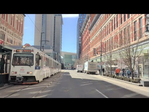 Driving Downtown - Denver 4K - Colorado USA