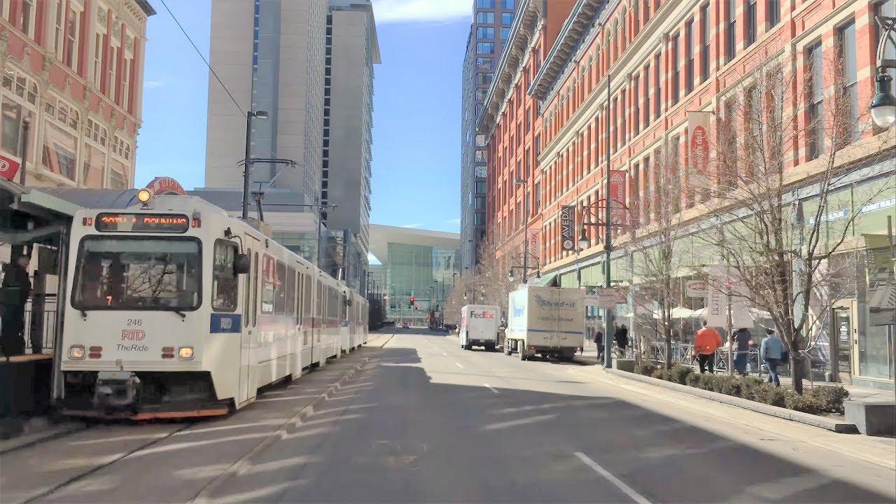 Driving Downtown - Denver 4K - Colorado USA - YouTube