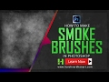 How to easily make Smoke Brush Photoshop fog/Mist brushes Tutorial for Beginners