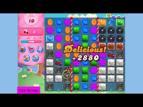 Candy Crush Saga Level 3350 done in 10 moves NO BOOSTERS
