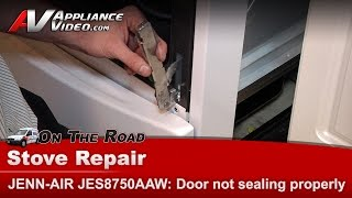 Jenn-Air Range ,Oven - Door hinges defective, Repair & Diagnostic  JES8750AAW