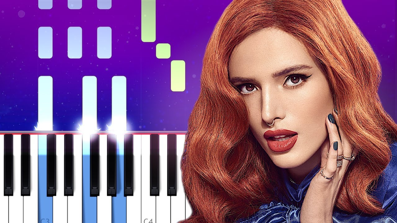 Bella Thorne Walk With Me Piano Tutorial