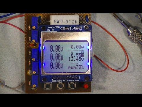 вольтамперметр для лабораторного блока питания на  ATMEGA 8 и дисплее от нокиа