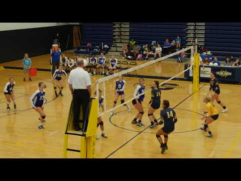 Intense High School Volleyball Action  - South Iredell hosts Statesville