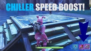 How to Get a SPEED BOOST using CHILLER TRAPS! (Fortnite)
