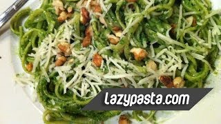 Linguine With Spinach Pesto | Easy Pasta Recipes By Lazy Pasta