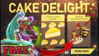 Free Fire New Event Cake Delight | Collect Cakes In Game | Anniversary Event